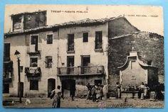 Postal de Tremp, fuente pública, n 9 Jaime Bellera- Tremp