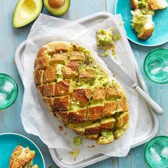Collect this Avocado, Garlic and Cheese Pull-Apart Bread recipe by Australian Avocados. MYFOODBOOK.COM.AU | MAKE FREE COOKBOOKS