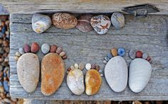 Adorable Stone Footprints by Iain Blake