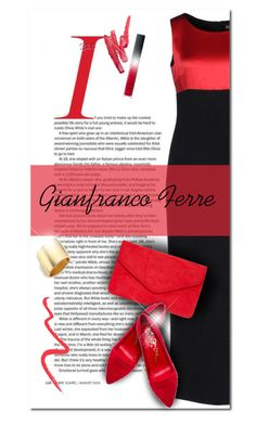 """Gianfranco Ferre"" by bliznec-anna ❤ liked on Polyvore featuring Gianfranco Ferré, Dorothy Perkins, Alice + Olivia, Ilia, NARS Cosmetics, Topshop and Kenneth Jay Lane"