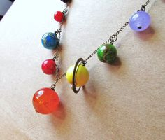 solar system necklace from etsy