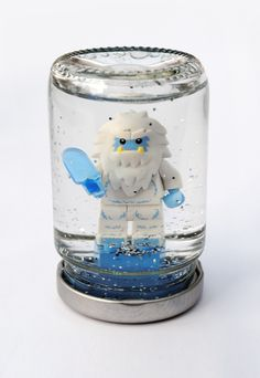 Lego snowglobes - so cute! We have two of this little guy and Max is intrigued by snowglobes.