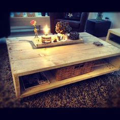 Salon tafel van steigerhout