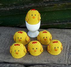 Easter Home Decor - Spring Table Decor - Chicken Egg Cozy - Crochet Egg Cosy - Chicken Egg Warmers - Gift for Farmers