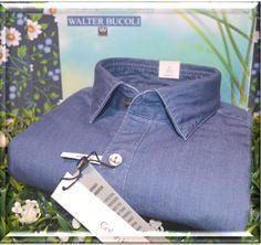 Camicia Calvin Klein  100% puro cotone in doppio ritorto , lavorazione tessuto in Jeans.