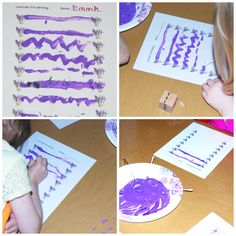 Lavender PreWriting Sensory Activity for Preschool