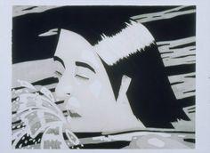 "Alex Katz, ""The Swimmer."" 1974. Aquatint. Museum of Fine Arts, Boston."