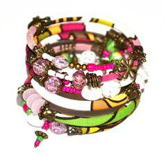 Pink green white brown and bronze adjustable by PurpleTurtleStore, $55.00
