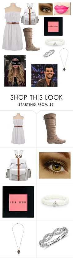 """""""First day of school with Taylor Lautner"""" by lexibxx ❤ liked on Polyvore featuring Grafea, Bobbi Brown Cosmetics, FOSSIL, Vanessa Mooney and Blue Nile"""