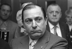 """Joe Colombo (Born was the boss of the Colombo crime family, one of the """"Five Families"""" of the Cosa Nostra in New York. Michael Jordan, Italian Mobsters, Colombo Crime Family, Kim Jong Un, Mafia Families, Neutral, Al Capone, G Man, The Fam"""