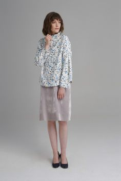 Terrazzo print high neck top, with folded detail long sleeves. High Neck Top, Florence, Sequin Skirt, Anna, Sequins, Lace, Long Sleeve, Skirts, Sleeves