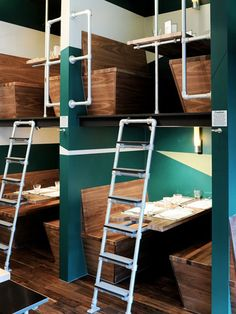 Going out to eat isn't just about the food. It's about the experience, and a big part of that is the restaurant's design. While a beautifully designed space can certainly enhance your enjoyment of a meal, the restaurants we're talking about go beyond even that, with weird, wild and outlandish designs that perhaps overshadow even the food itself, for an experience you won't soon forget. The Bangalore Express restaurant in London features these incredibly unique two-story booths.