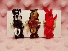 Barbie Hair Bands  3 Headbands  1 Black 1 Brown & by Barbieoutfits