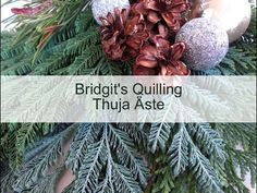 Bridgit's Quilling Thuja branches (with new Quilling Zigzag -Technique - Video 5) - YouTube