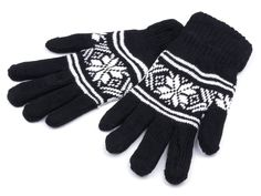 Gloves knitted double Norwegian pattern
