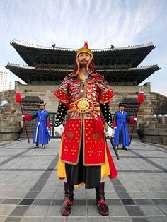 Guardias de Puerta de Namdaemun. Seúl Corea del Sur.