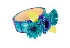 Aqua Flora Bracelet    #ScotchStyle http://scotchducttape.com/projects/aqua-flora-bracelet