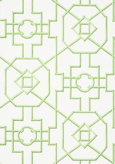 BAMBOO LATTICE, Green, T36157, Collection Enchantment from Thibaut