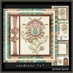 Cardtopper 7x7 with inlet soft Flower 223 on Craftsuprint - View Now!