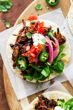 Vegan pulled mushroom tacos are a delicious meatless alternative to the traditional version of this classic crowd pleaser. They are easy to make, healthy and naturally gluten-free too.