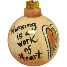 Nurse is a Work of Heart Ornaments $11.98
