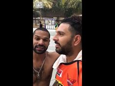 Yuvraj Singh told Shikhar Dhawan, who was in the swimming pool, that there is an emergency and his wife, Ayesha Mukherjee, had called him. Dhawan freaked out. Shikhar Dhawan, Yuvraj Singh, April Fools Day, Trending Videos, Pranks, The Fool, Films, Movies, Cinema