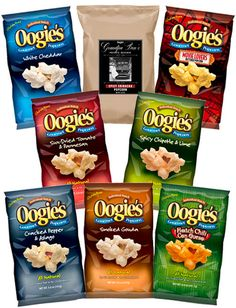 Star the New Year with a nice gift set of Oogie's Popcorn and Seasonings! Who doesn't love popcorn? Check out what Oogie's has to offer!