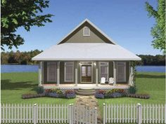 Country House Plan with 1292 Square Feet and 2 Bedrooms from Dream Home Source | House Plan Code DHSW63370