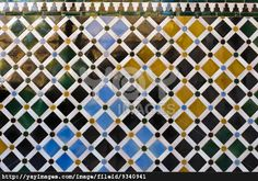 Islamic art - Colorful tiles background