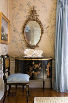 Chinoiserie wallpape: Askew on Raw Dyed silk