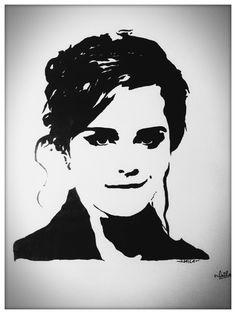 Emma watson stencil