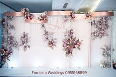 """Get great recommendations on """"bar tables wedding"""". Wedding Backdrop Design, Wedding Reception Backdrop, Wedding Stage Decorations, Wedding Mandap, Backdrop Decorations, Flower Decorations, Backdrops, Flower Wall Backdrop, Floral Backdrop"""