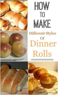 How to Make Different Styles of Dinner Rolls  |  whatscookingamerica.net  |  #dinner #rolls #butter #thanksgiving