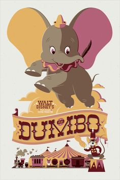 Modern vintage Disney poster by Tom Whalen (from Vintage Me Oh My, via Momentitus)- Dumbo Disney Pixar, Walt Disney, Disney Amor, Deco Disney, Disney Magic, Disney Travel, Posters Disney Vintage, Disney Movie Posters, Cartoon Posters