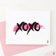 "Grüße - Grußkarte/Postkarte ""xoxo"" / Printable A6 - ein Designerstück von sppiy bei DaWanda"