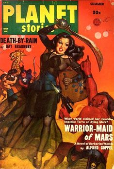 Allen Anderson, 1950. Note that this issue also sports story from iconic sci-fi writer Ray Bradbury.