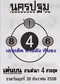 """มาแล้ว ใครที่รอ อย่าพลาด เลขดัง """"นครปฐม"""" ประจำงวดวันที่ 30 ธันวาคม 2558 ~ ข่าว หวยไทยไทย"""