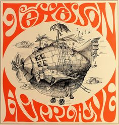Concert poster: Jefferson Airplane appearing 4 June 1966 at the Exposition Auditorium, Civic Center, San Francisco. Psychedelic Rock, Psychedelic Posters, Kunst Poster, Poster S, Rock Posters, Band Posters, Rock Album Covers, Classic Album Covers, Rock And Roll