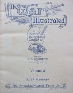 THE WAR ILLUSTRATED Volume two Title Page