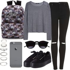 ~-~ by sassypayne on Polyvore featuring polyvore, fashion, style, MANGO, Topshop, No Name, Vans, Forever 21 and Chicnova Fashion
