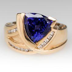 5 Carat Tanzanite Ring Diamond Accents 14K Gold $4,299.00