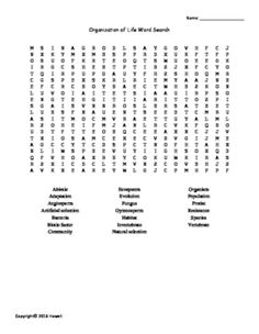 The Dynamic Earth Vocabulary Word Search for Environmental