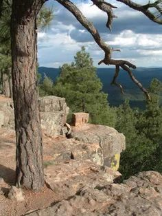 Mogollon Rim is a topographical and geological feature running across the U.S. state of Arizona. It extends approximately 200 miles from northern Yavapai County eastward to near the border with New Mexico. It frames my small town if Payson.  Love is Ageless http://www.susanhaught.com