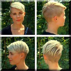 Opinions of this cut? Super Short Hair, Girl Short Hair, Short Hair Cuts, Short Shaved Hairstyles, Edgy Short Haircuts, Short Hair Undercut, Undercut Hairstyles, Unisex Haircuts, Coiffure Hair