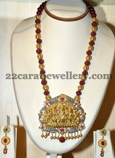 Jewellery Designs: Gold Balls and Beads Long Set