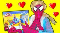 Frozen ELSA Play Doh Playset - Frozen Toys video - Queen Elsa In real Li...
