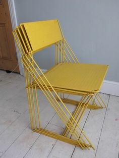 MAGIS POUR SYSTEM – 6 YELLOW DINING CHAIRS
