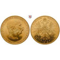 Österreich, Kaiserreich, Franz Joseph I., 100 Kronen 1915, 30,49 g fein, st: Franz Joseph I. 1848-1916. 100 Kronen 37 mm 30,49 g… #coins