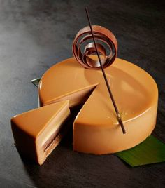 Ghana Milk Chocolate Mousse, Caramel Brûlée, Banana Crème & Hazelnut Crunch Entremet
