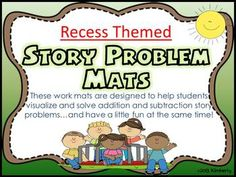 Recessed Themed Story Problem Mats (Addition and Subtracti